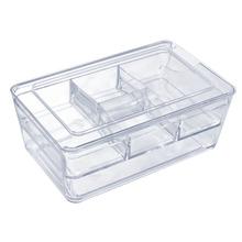 Porta Treco Plástico Cristal 8,2X27,8X17,5 cm