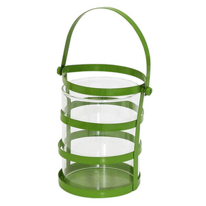 Porta Velas Copo Jade 7,5X7,5X10cm Verde Importado