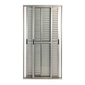 Porta Veneziana 3 Folhas Aluminio Brilhante 3 Folhas Caribe Max 215 X 150 X 11,7 Cm Jap