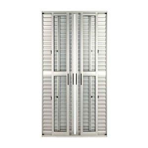 Porta montada de correr veneziana metal alum nio ambos os for Porta 240 cm