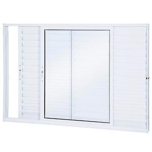 Porta Veneziana Alumínio Branco 100 cmx100 cm Ullian