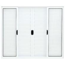 Porta Veneziana Alumínio Branco 100 cmx120 cm 6 Folhas Atlântica