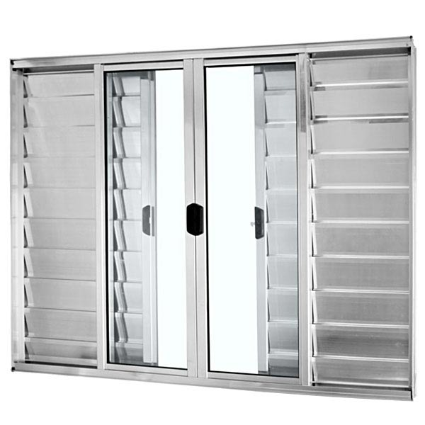 janela de correr veneziana de alum nio 1 20x2 00m brilhante mais atl ntica leroy merlin. Black Bedroom Furniture Sets. Home Design Ideas