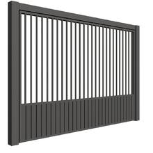 Portão de Aço Social Misto Macaé Basculante 285x250cm Mega Portões