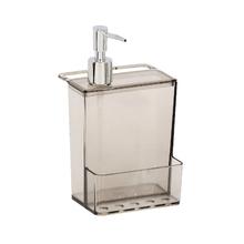 Porte Detergente e Esponja 21x12x10cm Plástico Cinza Neutral