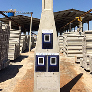 Poste Bifásico 3 Caixas Laterais Cabo 16mm Disjuntor 2P 63A Eletro Fort