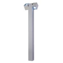 Poste de Jardim 2 Lâmpadas Branco Metal 1,00m Ideal