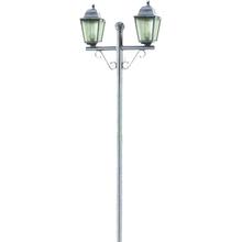 Poste de Jardim 2 Lâmpadas Branco Plástico 2,10m Dital