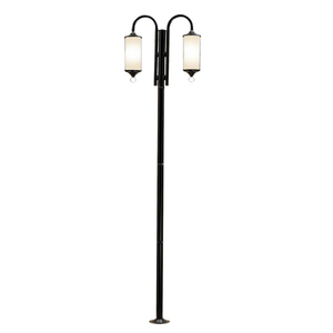 Poste de Jardim E27 para 2 Lâmpadas 2.20m Ideal Iluminação