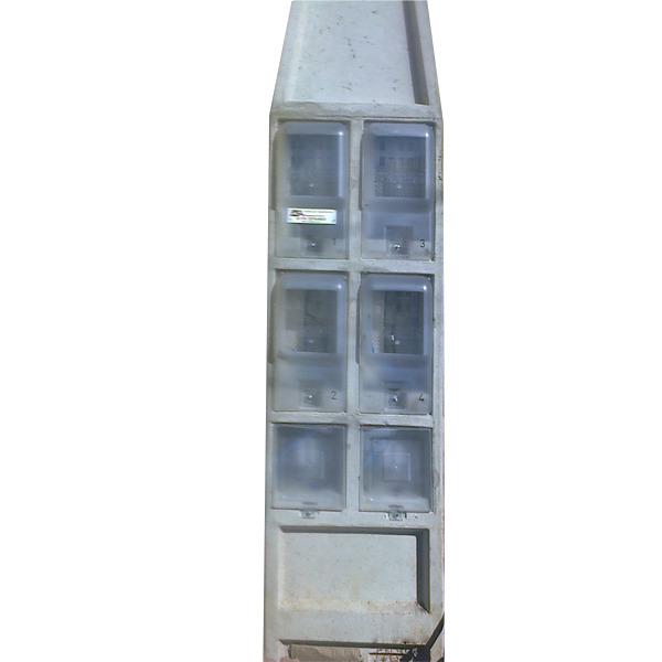 31da7dc48ec Poste Padrão 4 Caixas Bifásico 16 VLS Concrefer