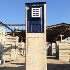 Poste Padrão Pedestal Trifásico Frontal Cabo 35mm Disjuntor 100AP Eletro Fort