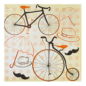 Pôster Canvas Bicicleta 30x30cm  Importado