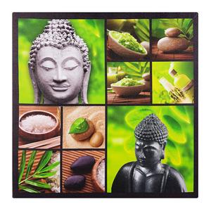 Pôster Canvas Budda Verde 50x50cm Importado