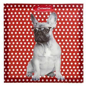 Pôster Canvas Dog Vermelho 40x40cm Importado