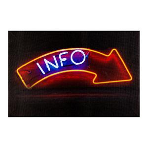 Pôster Canvas Info LED 20x30cm Importado