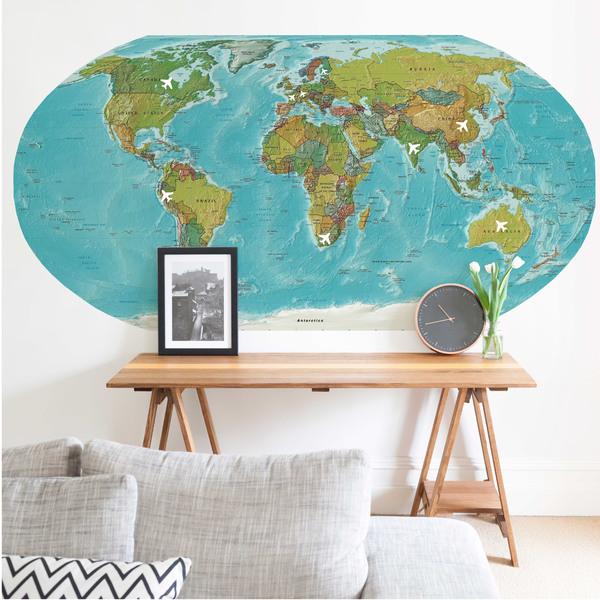 Pôster Painel Mapa 90x180cm