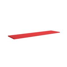 Prateleira 30x120x1,5cm Vermelha Spaceo