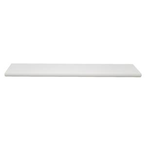 Prateleira Borda OvalSuporte Embutido Madeira Branco 120x25x4cm Classic Montfácil