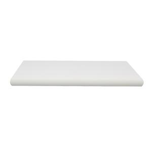Prateleira Borda OvalSuporte Embutido Madeira Branco 60x25x4cm Classic Montfácil