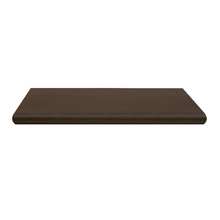 Prateleira Borda OvalSuporte Embutido Madeira Madeirado Escuro 60x25x4cm Classic Montfácil