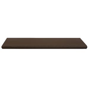 Prateleira Borda OvalSuporte Embutido Madeira Madeirado Escuro 90x25x4cm Classic Montfácil