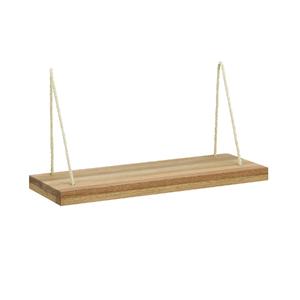 Prateleira com suporte 60x20cm madeira jatob wood spaceo for Tende corda leroy merlin