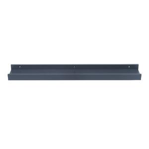 Prateleira Borda Reta de Quadro com Suporte Embutido MDF Azul 60x9x4cm Decorare Prat-K