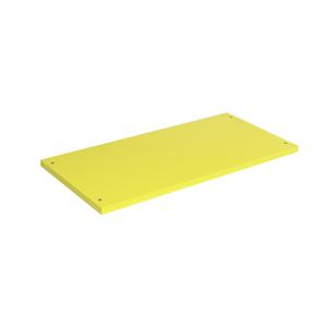 Prateleira Borda Reta sem Suporte Madeira Amarelo 54x25cm Emklave