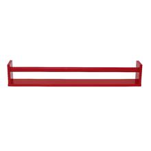 Prateleira Borda Reta Suporte Embutido Box Madeira Vermelho 80x10x1,5cm Spaceo