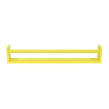 Prateleira Borda Reta Suporte Embutido Box MDF Amarelo 80x10x1,5cm Spaceo