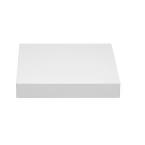 Prateleira Borda Reta Suporte Embutido Madeira Branco 25x25x4cm Spaceo