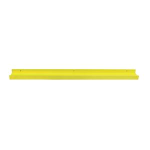 Prateleira Borda Reta Suporte Embutido Quadro MDF Amarelo 90x9x4cm Decorare Prat-K