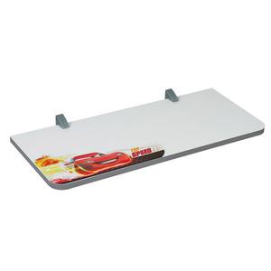Prateleira com Suporte Carros 1,5x25x60 cm Branca com Borda Metalizada