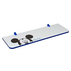 Prateleira com Suporte Mickey 1,5x25x80 cm Branca com Borda Azul