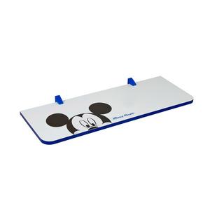 Prateleira com Suporte Mickey 1,5x25x60 cm Branca com Borda Azul