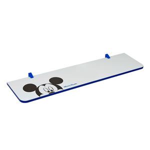 Prateleira com Suporte Mickey 1,5x25x100 cm Branca com Borda Azul