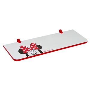 Prateleira com Suporte Minnie 1,5x25x80 cm Branca com Borda Vermelha