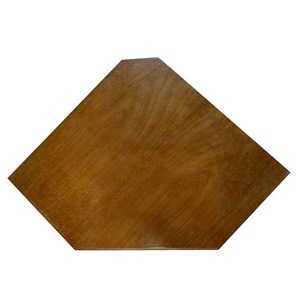 Prateleira Canto Borda Oval Madeirado Mel 50x25x4cm Montfácil