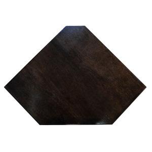 Prateleira Canto Borda Oval Madeirado Tabaco 50x25x4cm Montfácil