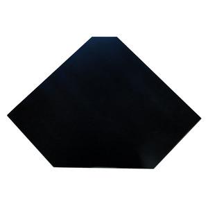 Prateleira Canto Borda Oval Preto 50x25x4cm Montfácil
