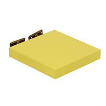 Prateleira com Suporte 23x23cm Madeira Amarela