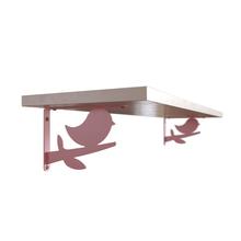 Prateleira com Suporte 60x20cm Metal Rosa Bird DS Artefatos