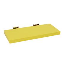 Prateleira com Suporte 60x23cm Madeira Amarela