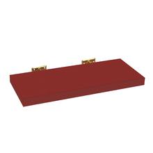Prateleira com Suporte 60x23cm Madeira Vermelha