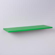 Prateleira Crie Fácil Verde 100 X 20cm Com Suporte Invisível