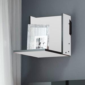 Prateleira Pequena MOV – Be Mobiliário - Branco / Carbono