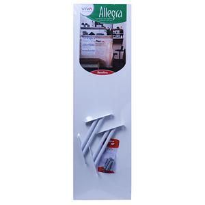 Prateleira Reta com Suporte Ibiza 80x25x1,5 cm MDP Melamina Branco Bemfixa