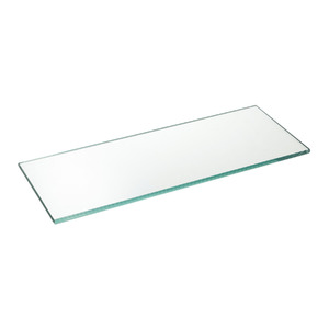 Prateleira Suporte Visível Vidro Borda Reta Hab 40x15x0,8cm Incolor