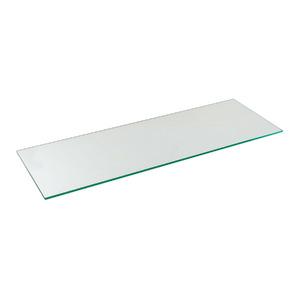 Prateleira Suporte Visível Vidro Borda Reta Hab 90x30x0,8cm Incolor