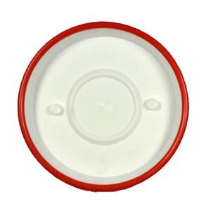Prato de Polipropileno Veneza Redondo Branco e Vermelho 14x14x3cm